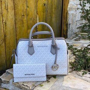 NWT Michael Kors LG Duffle handbag&wallet